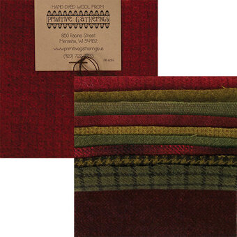 "Primitive Gatherings Wool 5"" Charm Pack Holiday"
