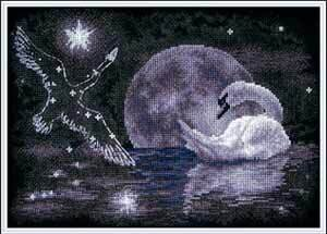 Moon Swan - Cross Stitch Kit