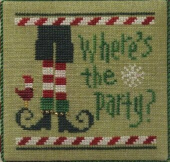 Quick It - Where's the Party? - Cross Stitch Pattern