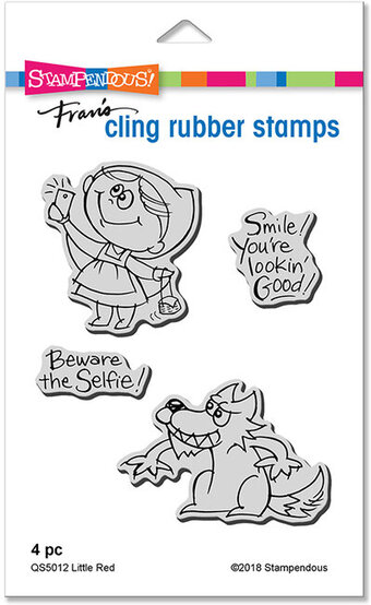 Little Red - Halloween Cling Rubber Stamp