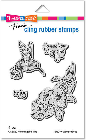 Hummingbird Vine - Cling Rubber Stamp