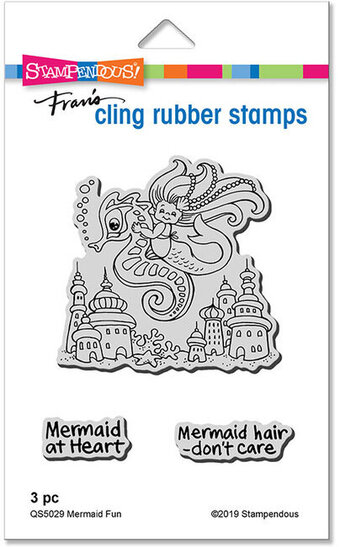 Mermaid Fun - Cling Rubber Stamp