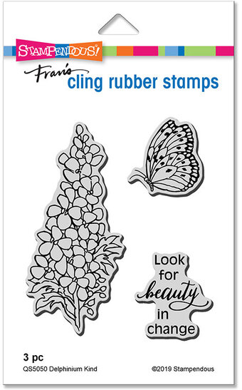 Delphinium Kind - Cling Stamp Set