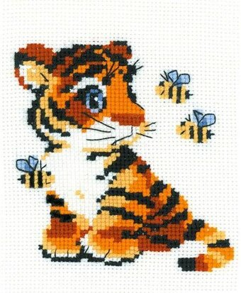 Stripies Tiger - Cross Stitch Kit