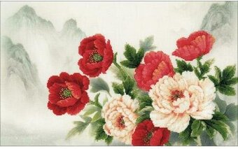 Oriental Bouquet - Cross Stitch Kit