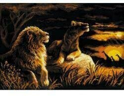 Lions In The Savannah - Cross Stitch Kit
