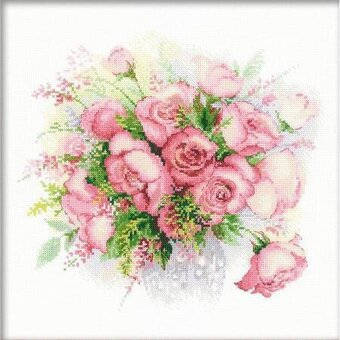 Watercolor Roses - Cross Stitch Kit