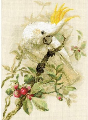 White Cockatoo Bird - Cross Stitch Kit