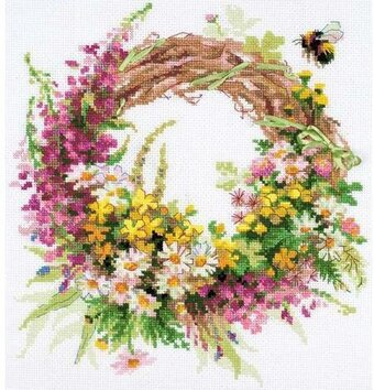 Wreath With Firewood - Cross Stitch Kit