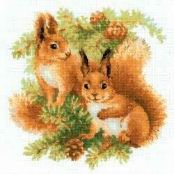 Squirrels - Cross Stitch Kit