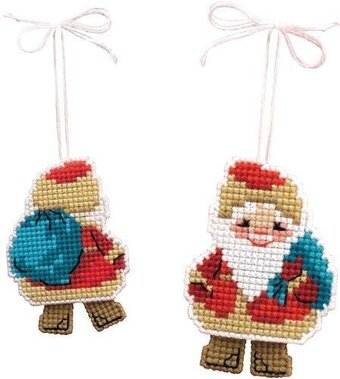 Santa Claus - Plastic Canvas Cross Stitch Kit