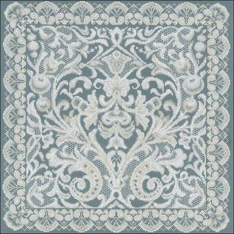 Pannel Viennese Lace Cushion - Cross Stitch Kit