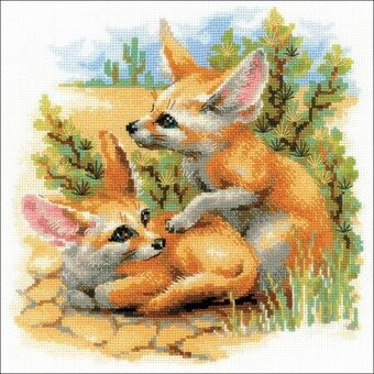 Desert Foxes - Cross Stitch Kit