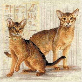 Abyssinian Cats - Cross Stitch Kit