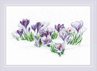 Crocuses under the Snow - Cross Stitch Kit