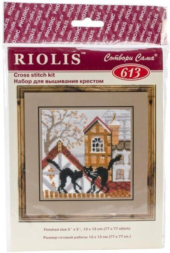 City and Cats Autumn - Cross Stitch Kit