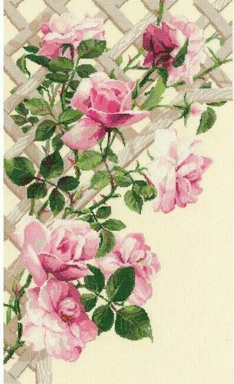 Pink Roses - Cross Stitch Kit