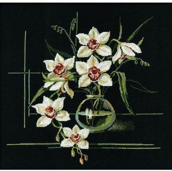 White Orchid - Cross Stitch Kit