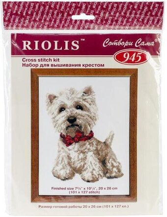 West Highland White Terrier - Cross Stitch Kit