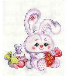 Bunny With A Candy - Cross Stitch Kit