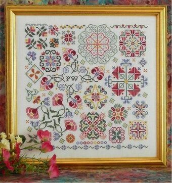 Swirling Flowers - Cross Stitch Pattern
