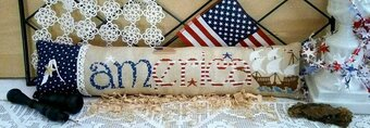 America (with embellishments) - Cross Stitch Pattern