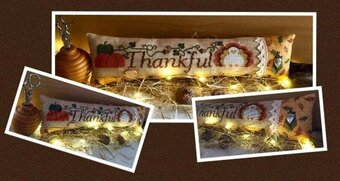 Thankful (with embellishments) - Cross Stitch Pattern