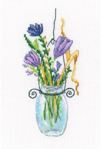 Forest Buttonholes 2 - Counted Cross Stitch Kit
