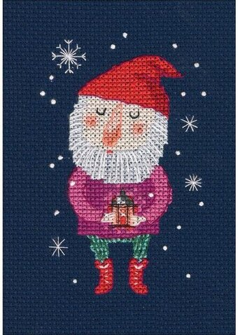 Fairy Little Gnome - Christmas Cross Stitch Kit