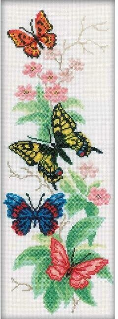 Butterflies And Flowers - Cross Stitch Kit