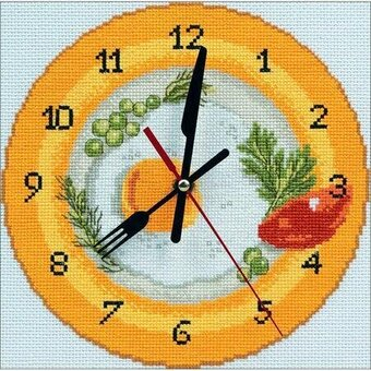 Вышивка крестом часы схем 188