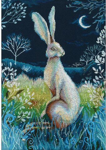 Hare By Night - Counted Cross Stitch Kit