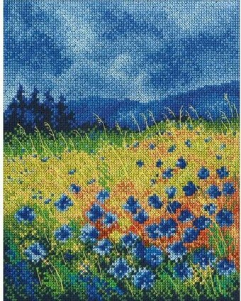 Skyblue Cornflowers - Cross Stitch Kit