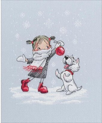Dancing With Snowflakes - Cross Stitch Kit