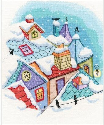 Winter On The Roof - Cross Stitch Kit