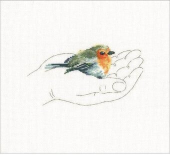 Warmth In Palms Bird I - Cross Stitch Kit