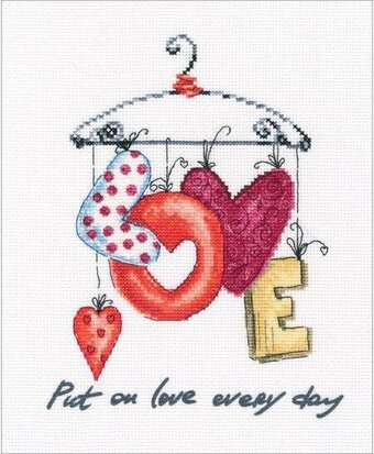 Put On Love Every Day - Cross Stitch Kit