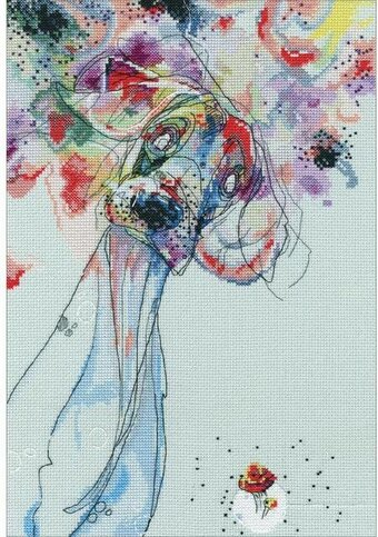 Color Outside The Lines - Cross Stitch Kit