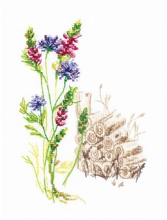 Bloomy Herbs 2 - Counted Cross Stitch Kit