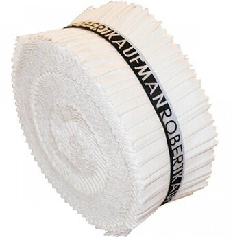 2 1/2in Strips Roll Up Kona Solids Snow Colorway 40 Pieces