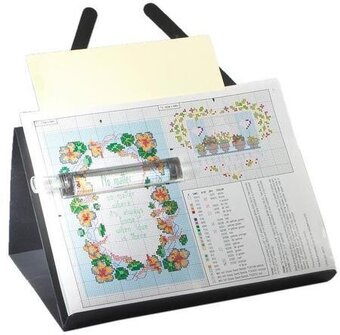 PROP-IT Magnetic Needlework Chart Holder with Magnifier
