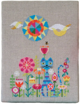 Garden Cat - Cross Stitch Pattern