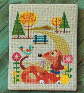 Dog Park - Cross Stitch Pattern