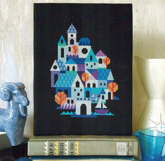 Blue Village - Cross Stitch Pattern