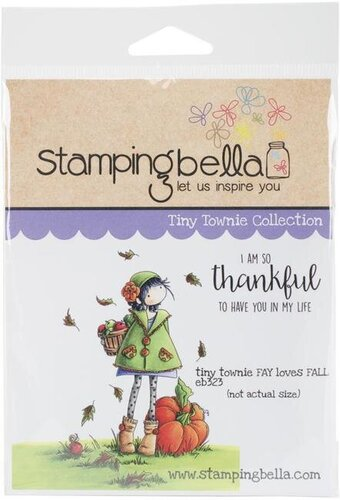 Tiny Townie Fay Loves Fall Cling Stamp