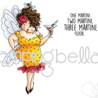 Edna Needs A Martini - Cling Rubber Stamp