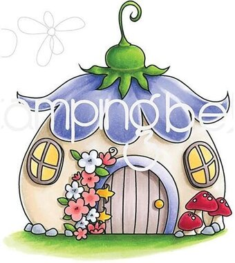 Fairy House - Cling Rubber Stamp