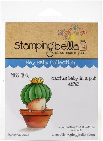 Cactus Baby - Cling Rubber Stamp