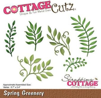 CottageCutz Spring Greenery Die