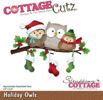 CottageCutz Holiday Owls Christmas Die
